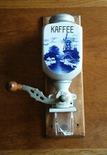 Antique Vintage Coffee Grinder German Kaffee Wall Mount Porcelain Kathie RARE A+