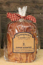 Apples & Cinnamon Scented Iced Pillar Candle, Made in USA, Country Primitives