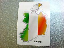 IRELAND Flag & Map Motorcycle Helmet Van Car Bumper Sticker Decal 1 off 80mm