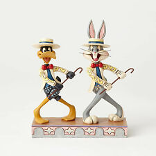 Jim Shore Looney Tunes Bugs Bunny and Daffy Duck 4055775 On With the Show NEW