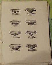 1883 Ancienne Gravure Pâtissiers Confiseurs Petits socles sucre Taille Pastillag