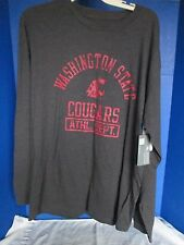 KNIGHTS APPAREL~Gray Long Sleeve WSU WASHINGTON STATE COUGARS SHIRT~Small~NWT