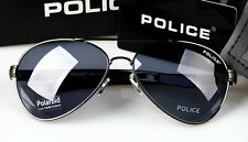 2016 New style Men's POLICE sunglasses Driving glasses Blue lens gray frame