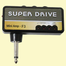 NEW Guitar Super Drive Mini Guitar AMP Plug In Amplifier USB Rechargeable-F-3