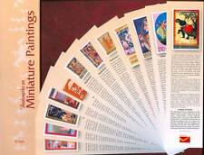 Bookmarks depicting stamps Miniature paintings theme