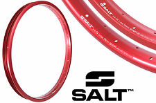 "PAIR SALT AM HI-Q LITE ALLOY 20"" BIKE RIM 36 SPOKE STRAIGHT+AERO RED SWPS+SWPA"