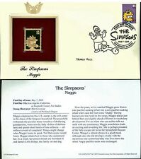 The Simpsons Cover Postal Commemorative Society Proof Replica Stamp 22k Gold  4