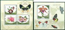 Flowers Plants Orchids Peony Roses Butterflies Insects Madagascar MNH stamps set