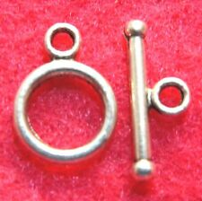 20Sets Tibetan Silver Nice ROUND Toggle Clasps Connectors Jewelry Finding C193