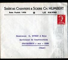 """LE HAVRE (76) CHANTIER & SCIERIE / BOIS du NORD & d'AMERIQUE """"Ch. HUMBERT"""" 1957"""