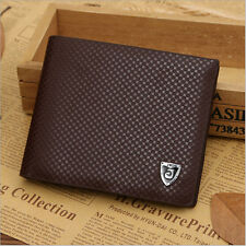 Men Leather Wallet Bifold Credit Card Holder Brand Purse Money Clip coffee one