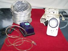 AQUARIUM SUPPLIES TIMER FISH PET MOTORS PLUG IN and blower UNTESTED AS IS