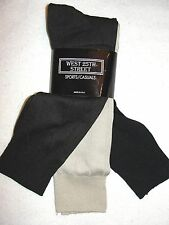 3 Pair Men's West 25th Street Mid-Calf Nylon Dress Socks - Size 10-13