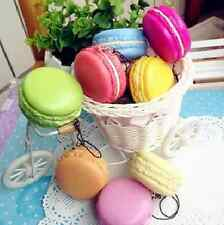 New Kawaii Soft Dessert Macaron Squishy Cute Cell phone Charms Key Straps Access