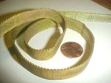 3 FEET VINTAGE FANCY MESH 13mm. WIDE FLEXIBLE CHAIN  V922