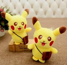 "8"" PIKACHU w/Messenger Bag Pokemon Go Plush Toy Soft Stuffed Animal Pokémon USA"