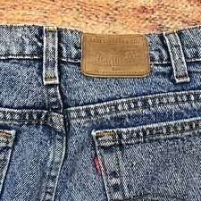 80s 90s VTG LEVIS 540 STONE Acid WASH Made USA Denim JEANS 36x34 Straight Leg