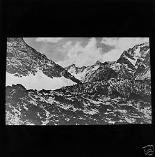 Glass Magic lantern slide THE ANDES MAIN CHAIN 20000FT C1910 SOUTH AMERICA