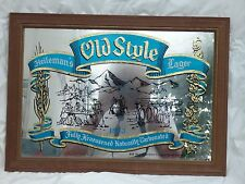 VTG 1981 HEILEMAN'S OLD STYLE LAGER BEER 1853 ADVERTISING MIRROR SIGN
