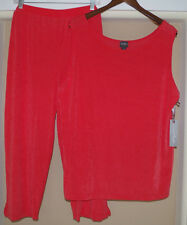 Chico's 2 pc Travelers Slim Crop Pants & Tank Top Set Outfit Size 4 20 22 XXL