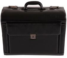 Large Leather Pilot Case Business Laptop Travel Flight case Bag Hand Luggag 6913