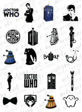 20 NAIL DECALS * DR WHO ASSORTMENT* 20 Designs WATER SLIDE NAIL DECALS