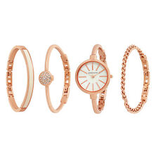 Anne Klein Mother of Pearl Dial Rose Gold Ladies Watch and Accessories 1470RGST
