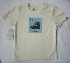 MOUNTAIN MAMA Alphabet B is for Boot Organic Cotton SS TShirt NEW Boys Size 5 6