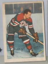 1953-54 Parkhurst Hockey George Gee Card # 83 Very Good Condition