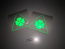 """2x stickers auto delta corse vert """"edition limité"""" 90mm Alfa Romeo ALF-05RV"""