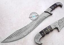 "18.25"" Custom Beautiful Damascus Steel full tang Machete Sword Knife (AA-0326-15"