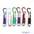6 Colors Flashlight UV Torch Laser Pointer Beam LED Infrared IR 3 in 1 Keychain
