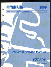 2009 YAMAHA YZ250Y MOTORCYCLE OWNERS SERVICE MANUAL / LIT-11626-22-55