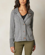 NWT prAna Gorgeous Grey Black Wool Blend Women's Lucia Blazer Like Jacket M $169