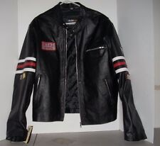 Celebs Wear Gregory House M.D Motorcycle Jacket Real Leather Size Large NWT