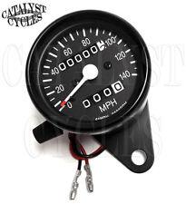 2:1 Black Speedometer Mini Speedometer for Harley 2:1 Ratio Speedo with Odometer