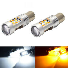New 2PCS 1157 White/Amber Switchback 28-SMD LED Turn Signal Bulbs