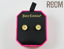 Juicy Couture Daisy Flower Stud Earrings Studs with box