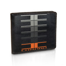 Chevrolet Chevy Camaro Performance Large Multi Logo Black Leather Bi-Fold Wallet