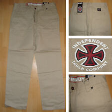 "INDEPENDENT - Tony Trujillo Trousers - Waist 34"" - Skateboard Trousers Pale Sand"