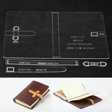 Notepad Travel Book Leather template Clear Acrylic Leather Pattern 877