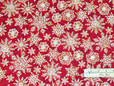 Winterly Wonderful Red Snowflake Christmas Marcus Fabric by the 1/2 Yard   #5312