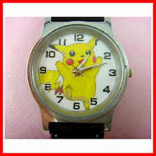 Pokemon Pikachu Child Kids Boy Man Black Quartz Fashion Wrist Watch Wristwatch