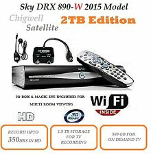 MASSIVE 2TB SKY+ HD DRX890 WIFI MODEL SATELLITE BOX WITH IO BOX AND MAGIC EYE.