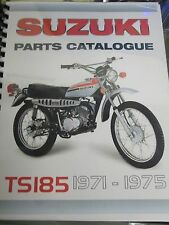 Suzuki TS185  parts manual  1971 1972 1973 1974 1975