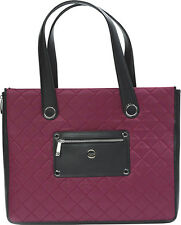 "New Knomo of London Marina 14"" Laptop Bag Tote Case Black Cherry CLEARANCE"