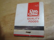 Vintage Used Shur Fine Quality Foods struck matchbook