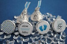 108 Baby Boy Personalized Name Hershey Kiss Labels Stickers Favors Baby Shower