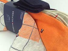 Men's TOMMY HILFIGER Orange Gray ARGYLE Dress Socks -4 Pack- $36 MSRP -25% off