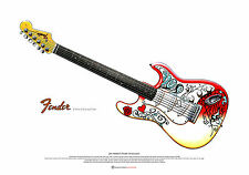 Jimi Hendrix's Fender Stratocaster ART POSTER  as used at Monterey A2 size